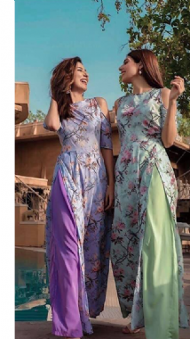 Cold Shoulder Floral Suits